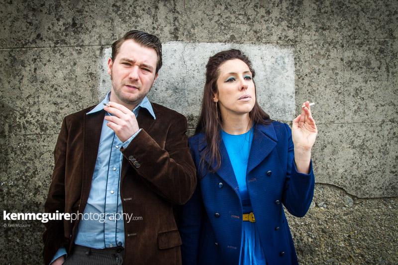 John Morton and Simone Kelly in Heart Shaped Vinyl