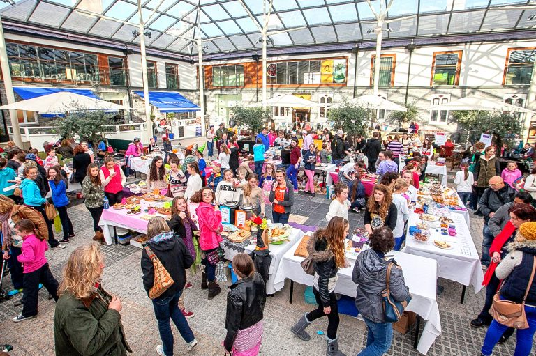 The young producers market in Workhouse Square at MacDonagh Junction