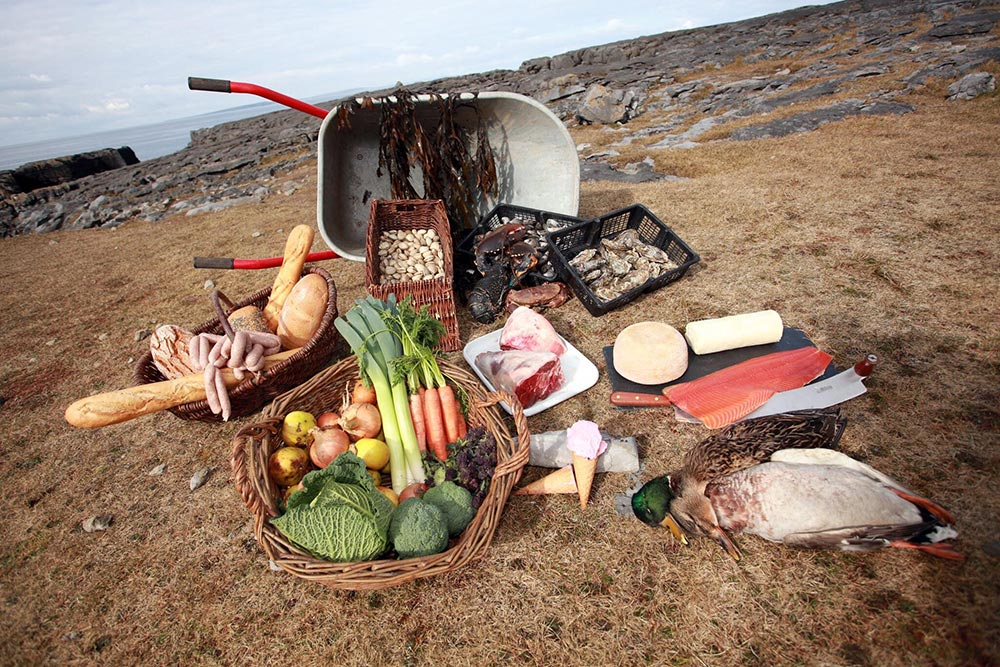 A selection of local produce from the Burren Food Trail