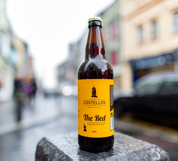 Costello's 'The Red' bottle shot on High Street, Kilkenny