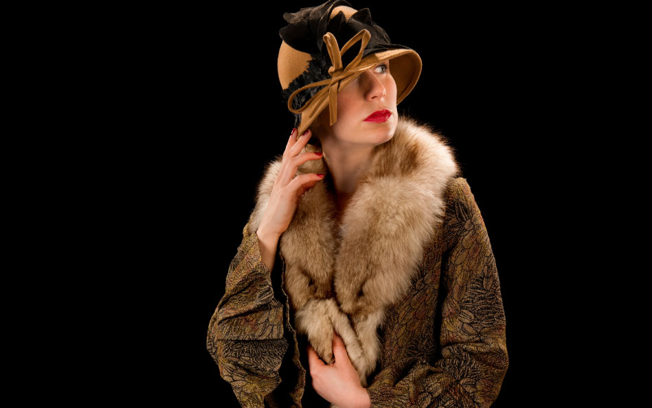 Rebecca Vaughan in Dyad Productions' Dalloway, touring Ireland in October 2016.