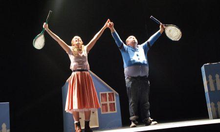 Cora Fenton and Ciaran Bermingham in Fred & Alice by Callback Theatre