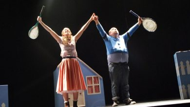 Cora Fenton and Ciaran Bermingham in Fred & Alice by Callback Theatre