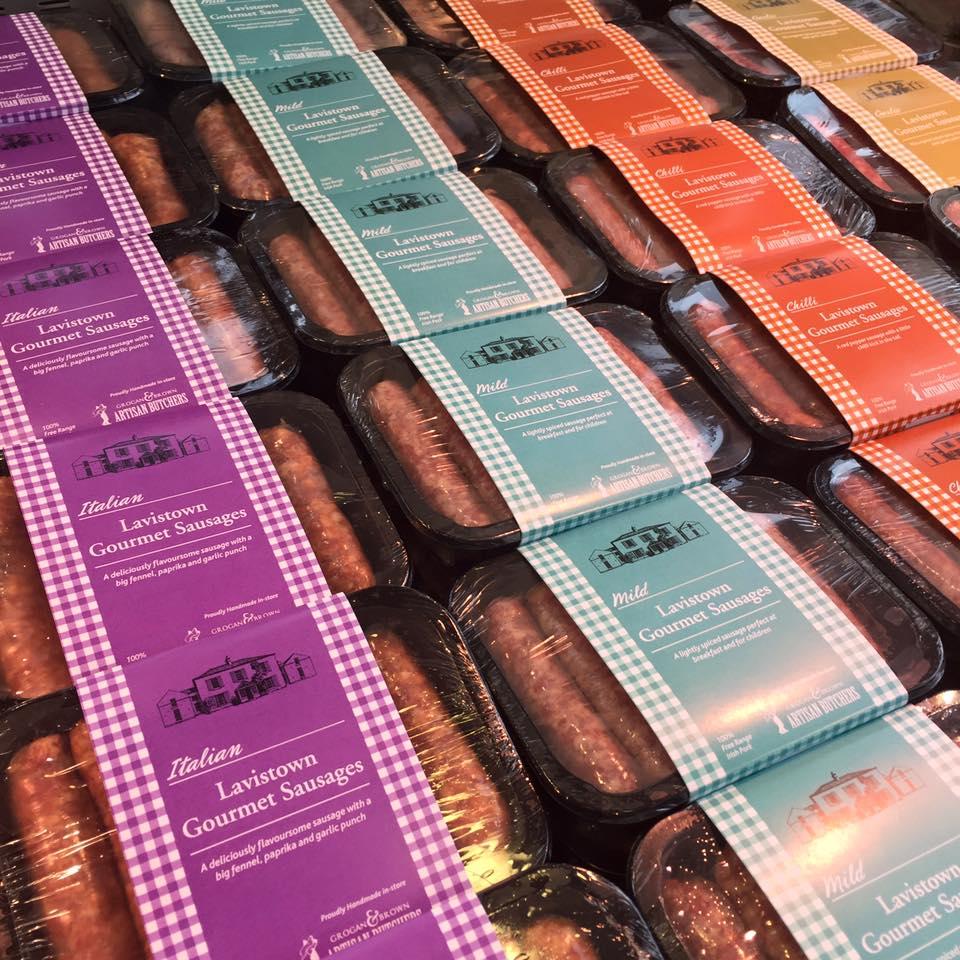 Lavistown Sausages, now under production from Grogan & Brown in Kilkenny. Photo: Grogan & Brown/Facebook