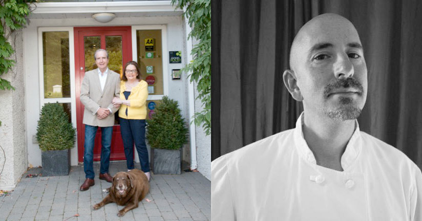 Phil & Rhoda Nolan at Rosquil House and, right, guest chef for the night Steve Levine