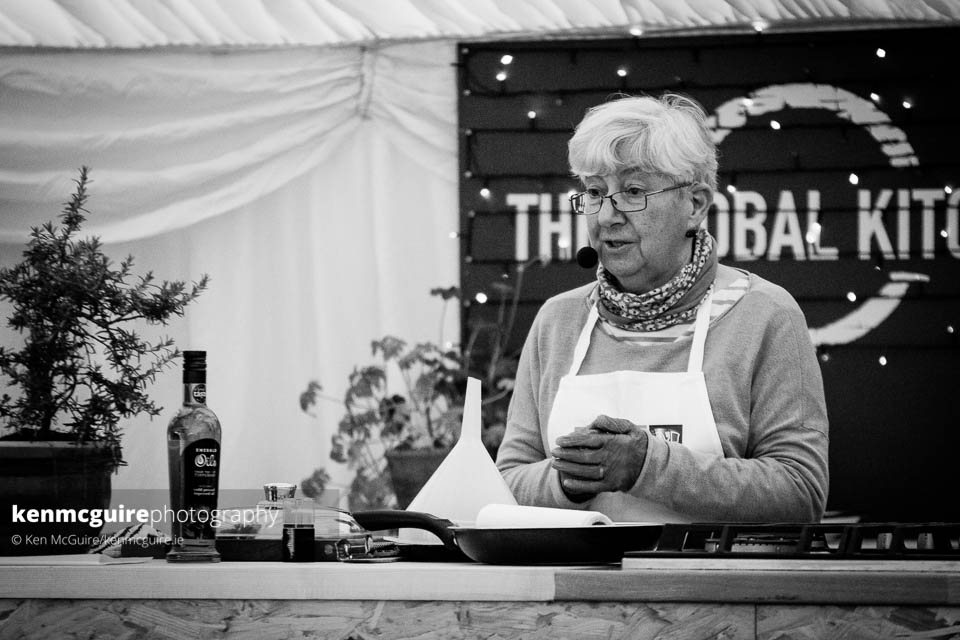 Olivia Goodwillie, early founder of Savour Kilkenny and of Lavistown Sausages pictured in The Global Kitchen. Photo: Ken McGuire/kemnmcguire.ie