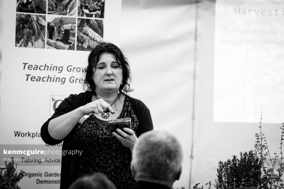 Dee Sewell of Greensideup.ie hosting a DIY herb workshop at the Smallholders Gathering. Photo: Ken McGuire/kenmcguire.ie