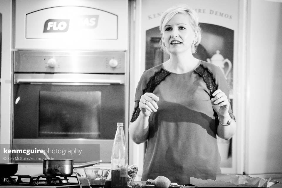 Domini Kemp during the demo for The Ketogenic Kitchen. Photo: Ken McGuire/kenmcguire.ie