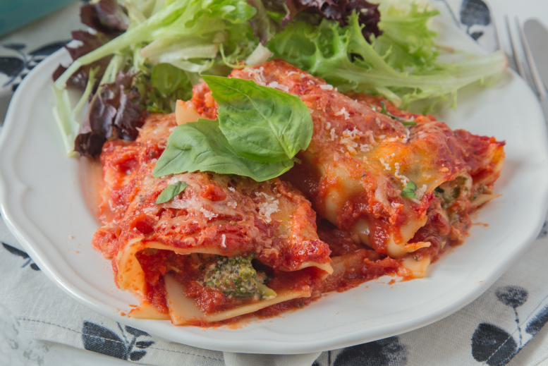Vegetable Lasagna Rollups. Photo: food.com/anniesnomsblog