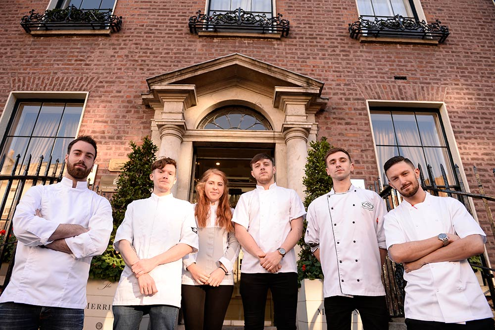 The six shortlistees for the Euro-torques Young Chef of the Year. Photo: Clodagh Kilcoyne