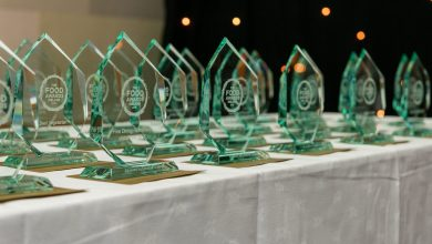 2016 Food Awards Ireland trophies. Photo: Food Awards Ireland/Facebook
