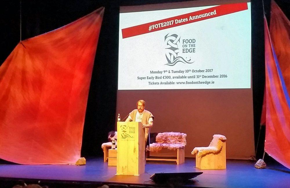 JP McMahon (Aniar) onstage at Food On The Edge 2016. Photo: Francis Nesbitt/Twitter