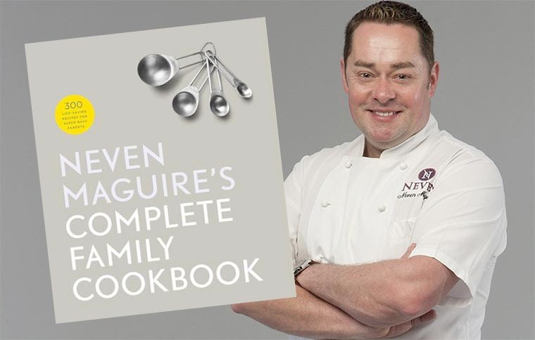 Neven Maguire's Complete Family Cookbook. Mockup: Ken McGuire/kenmcguire.ie