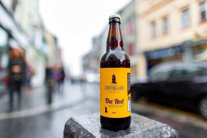 Costello's Red Ale, born of Kilkenny and Costello's own brewery, opening December 2016.
