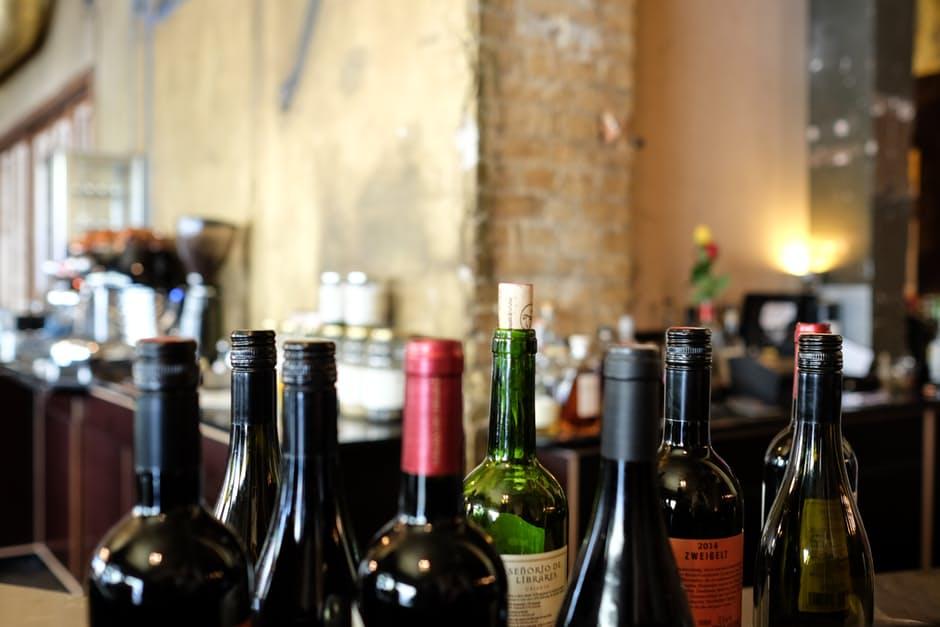Wine bottles ready for tasting. Photo: pexels.com