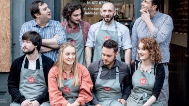 The Dublin Barista School team with James McCormack pictured back row, right. Photo: 9thDegree.ie