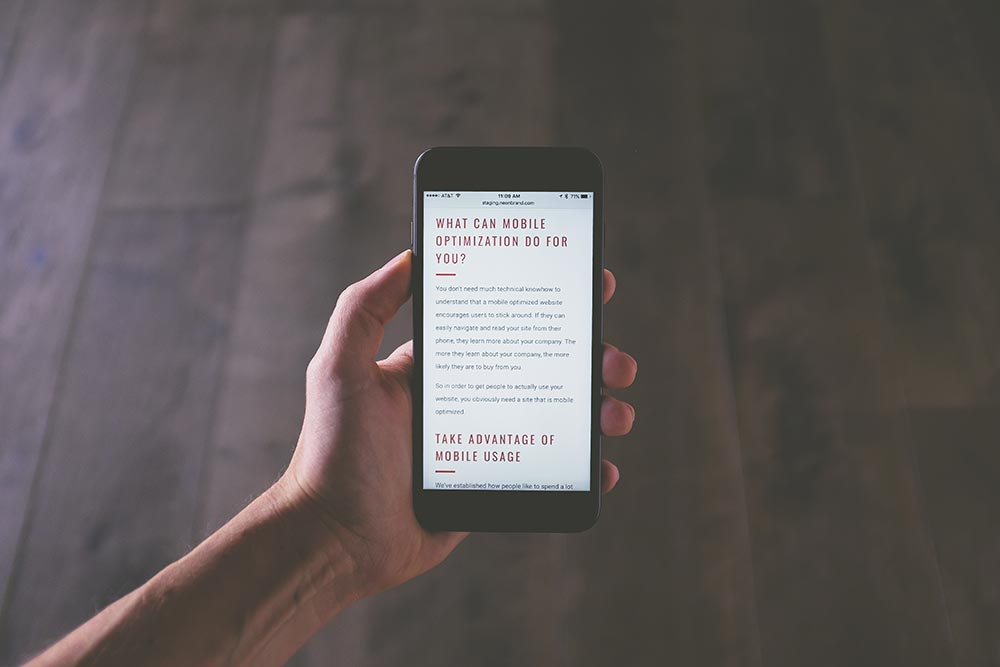 What can mobile optimisation do for you? Photo: NeONBRAND/Unsplash