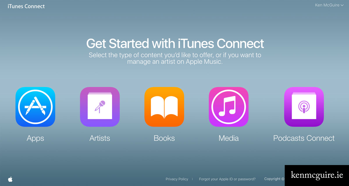iTunes Connect - Get Started