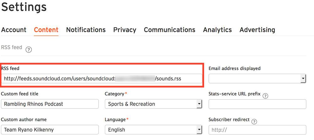 SoundCloud RSS Feed