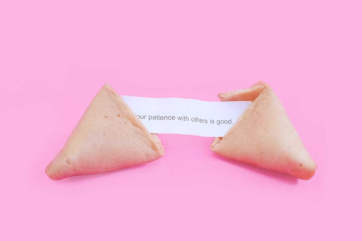 Patience from fortune cookies. Photo: Elena Koycheva/Unsplash
