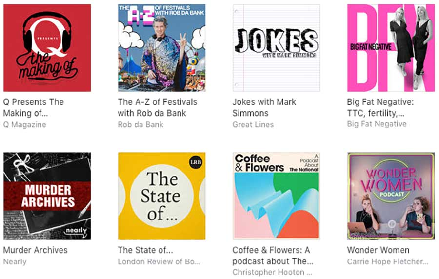New and noteworthy on Apple Podcasts.