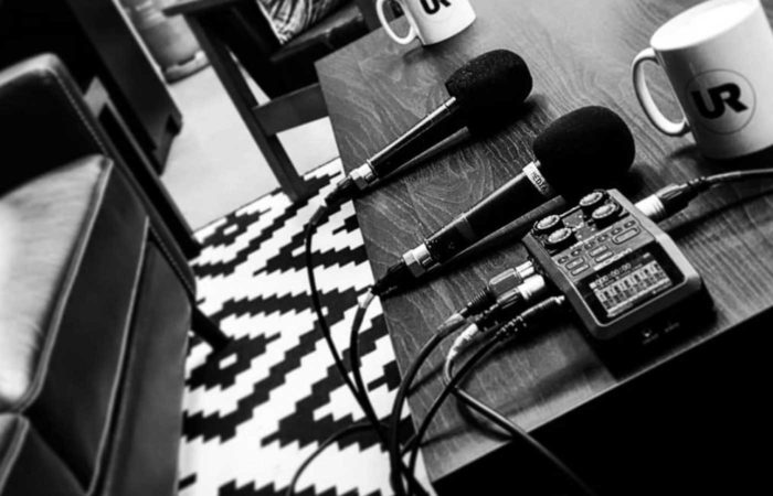My 2020 podcasting kit, including a Zoom H6 and some Shure SM58 dynamic vocal mics